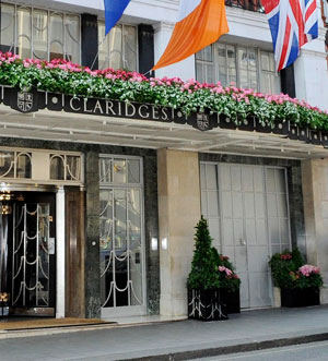 Entrance to Claridges Hotel